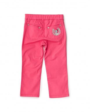 ピンク  バック刺繍パンツ見る
