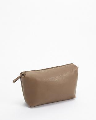 グレージュ×ゴールド バッグインバッグ付きトートバッグ見る