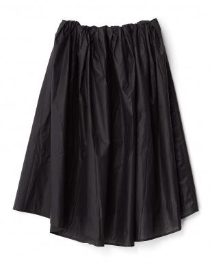 BLACK  イレギュラーミディスカート見る