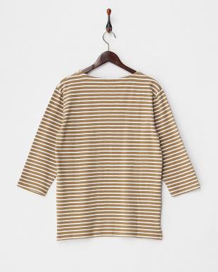 CAMEL  USAコットンパネルボーダーTシャツ(7分袖)見る