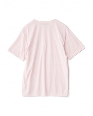PINK  カラーメランジポケTシャツ(半袖)見る