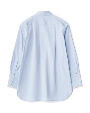 PASTELBLUE IRIZANNA ビッグポケットシャツ見る