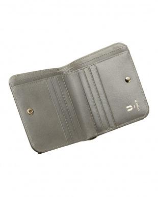 ブルーグレー  BOX折り財布見る