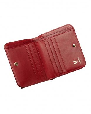 レッド  BOX折り財布見る