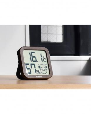 ダークウッド  デジタル温湿度計見る