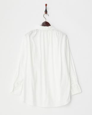 ホワイト ドロップショルダーシャツ見る