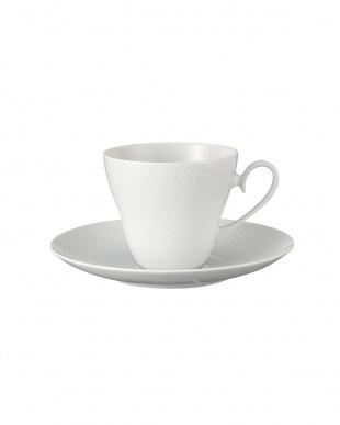ロマンスホワイト コーヒーカップ&ソーサー ペア見る