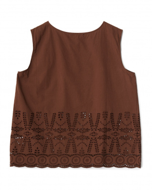 ブラウン  インド刺繍ブラウス見る