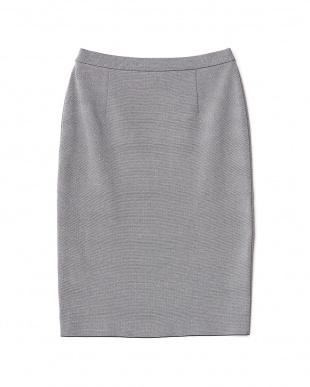 ネイビー  ニットアップスカート見る