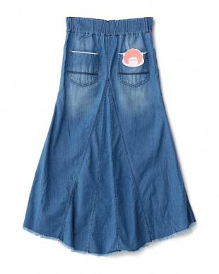 淡色加工  マーメードロングスカート見る