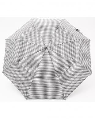 千鳥格子 P47  Vented Canopy 3 sec AOC 自動開閉折りたたみ傘見る
