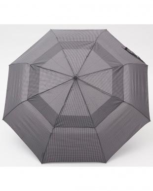 千鳥格子 W81  Vented Canopy 3 sec AOC 自動開閉折りたたみ傘見る
