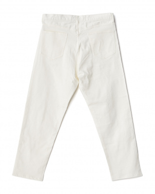 White  Ankle Cut Jeans DOORS見る