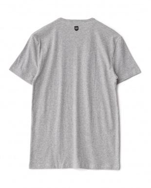 グレー  ストレッチ綿混Tシャツ見る