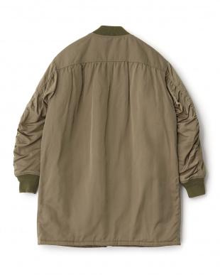 オリーブ ロングMA1ジャケット見る