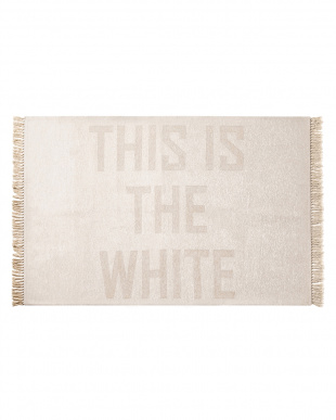 WH  ホワイト THIS IS THE W/B FRINGE RUG 140×200見る