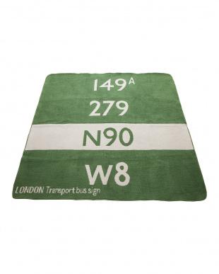 グリーン キッズバスステーション ラグ 140×140見る