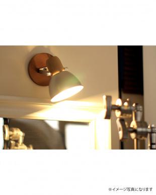 ゴールドカラー  アルミ&ウッド1灯テーブル&壁掛け兼用ランプ見る