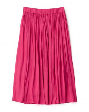 ピンク  ギャザースカート見る