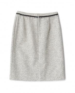 ベージュ  ツイードタイトスカート見る
