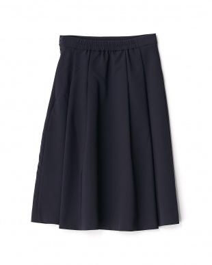 ネイビー  タック入りスカート見る