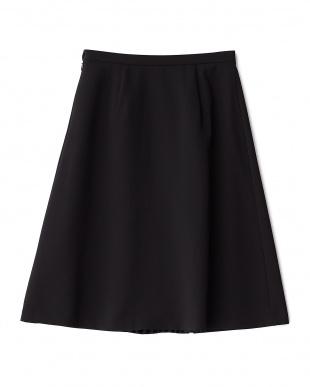 ブラック  センタープリーツ スカート見る