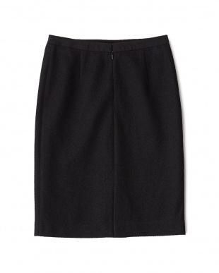 ブラック  ツイードニットスカート見る