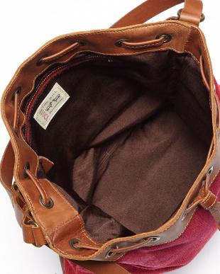 レッドピンク  RATHCOOLE ウール巾着バッグ見る