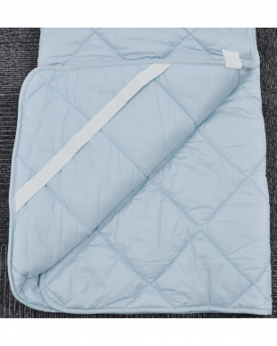 ブルー  [ダブル]合繊敷きパッド 家庭洗濯可能見る