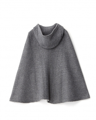 MEDIUM MELANGE KNITTED ニットケープ見る