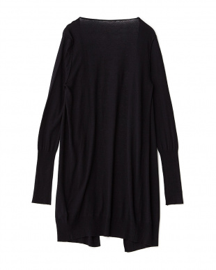BLACK  CASHMERE VISCOSE CHIC トッパーカーディガン見る