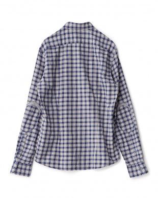 PALE INK  FLIX/S CHECK DAGG ヘリンボーンチェックシャツ見る