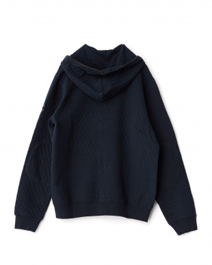 BLUE BLACK ZIGOR/S QUILT SWEAT TUBICO CO. フルジップパーカー見る