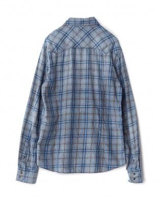 WY53 KANT CHECK INDIGO FLANEL 4 OZ チェックシャツ見る