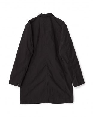 ブラック  ステンカラーコート見る