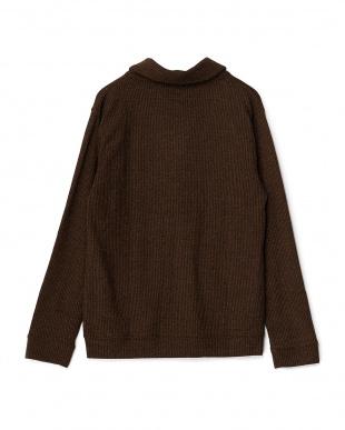 ブラウン  DOUBLE CLOTH SHAWL CARDIGAN見る