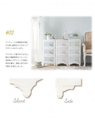 パールホワイト  日本製 ドレスチェンジチェスト3段見る
