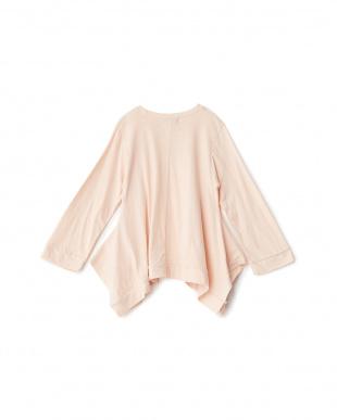ピンク  プリント 変形Tシャツ見る