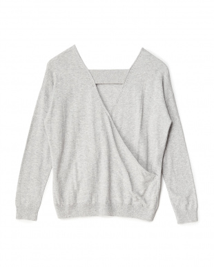 LIGHT GREY ARBORE KNIT見る
