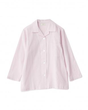 ピンク  高島ちぢみパジャマ|WOMEN見る