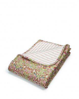 ピンク  いちご泥棒 ベッドカバー 240×270cm見る