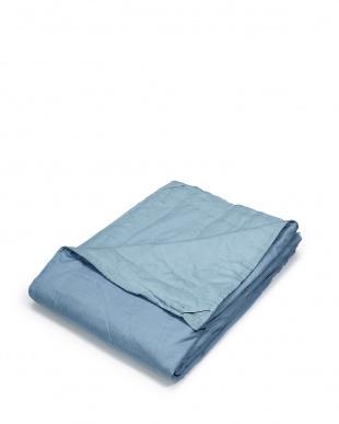 ブルー シルクわた入り肌掛けふとん 140×190cm見る