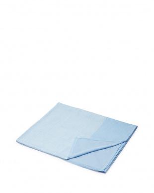 ブルー  和紙繊維混タオルシーツ見る