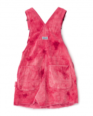 ピンク コールテンブリーチジャンパースカート見る