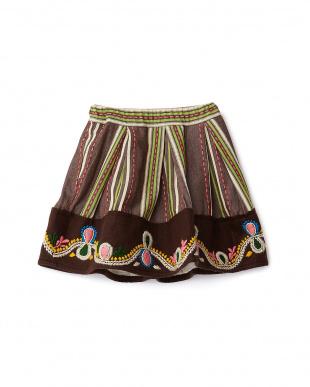 ブラウン ポコポコスカート見る