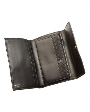 ブラック ココマーク 三つ折り長財布見る