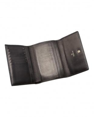 ブラック キャビアスキン 三つ折り財布見る