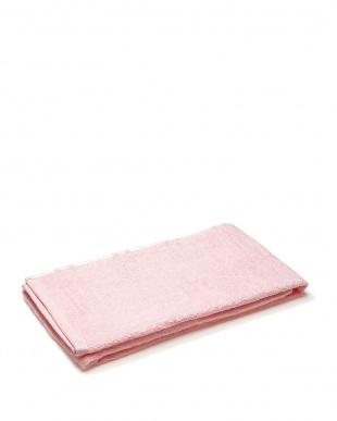 ピンク/ブルー 片面ガーゼバスタオル 2枚セット見る