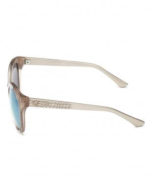 グレー 型押し切り替えフォックスタイプサングラス見る