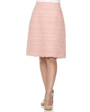 ピンク ロービングツィードスカート見る